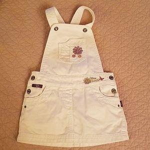 Disney jeans white overall skirt